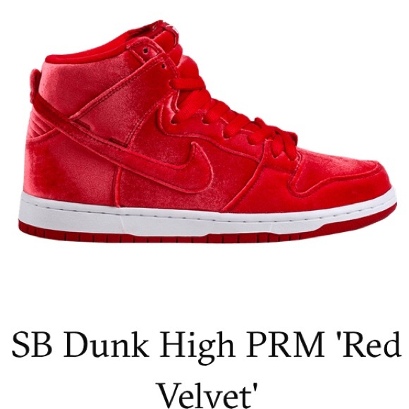 sports shoes 14641 e2774 Nike Dunk High Premium SB Red Velvet Size 11